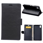 Crazy Horse Leather Wallet til iPhone XR - Black