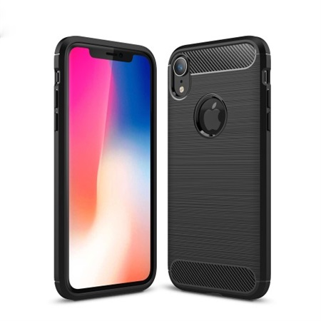 Fibre Brushed Cover til iPhone XR - Black