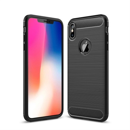 Fibre Brushed Cover til iPhone XS Max - Black