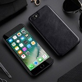 Leather Coated TPU Cover for iPhone 7/8 - Black