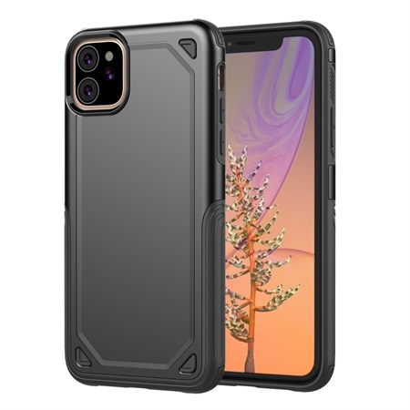 Hybrid Rugged Armor Case for iPhone 11 - Black