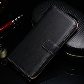 PU-leather flipcover til iPhone 7 - Sort