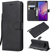 Wallet Leather Case for Samsung Galaxy S10 Plus - Black