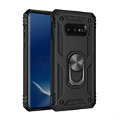 Armor Cover with Rotating Ring for Samsung Galaxy S10e - Black