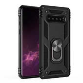 Armor Cover with Rotating Ring for Samsung Galaxy S10 Plus - Black