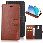 Crazy Horse PU Leather Wallet til Huawei Mate 10 Lite - Brun