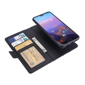Book Style 2i1 Leather Wallet til Huawei P20 - Sort
