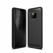 Fibre Brushed Cover til Huawei Mate 20 Pro - Black