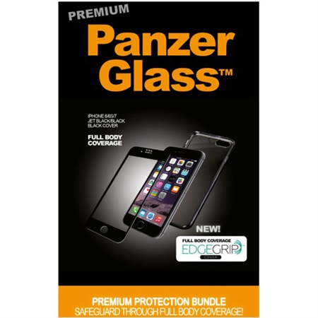 PanzerGlass PREMIUM iPhone 6/6S/7 Black EdgeGrip cover