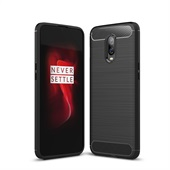 Fibre Brushed Cover for OnePlus 6T - Black