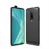 Fibre Brushed Cover for OnePlus 7 Pro - Black