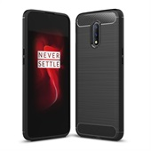 Fibre Brushed Cover for OnePlus 7 - Black
