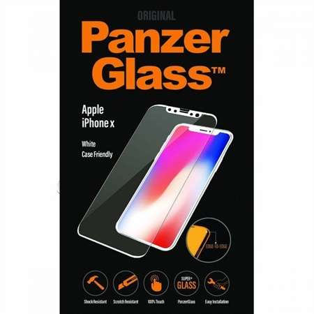 PanzerGlass iPhone X White Case Friendly