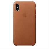 Apple Leather Case Saddle Brown til iPhone X