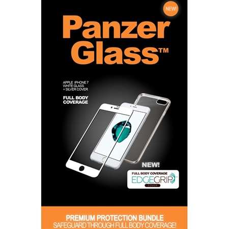 PanzerGlass PREMIUM iPhone 7 White + EdgeGrip cover
