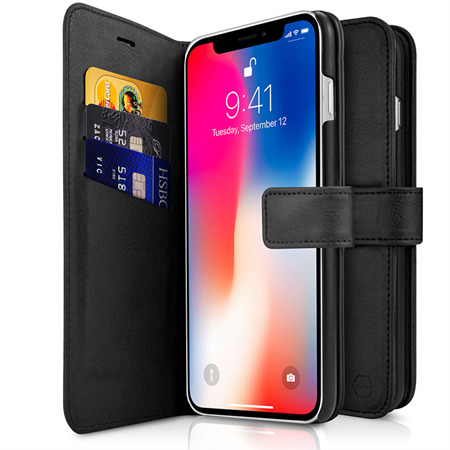 ITSKINS Wallet Book til iPhone XR - Black