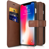 ITSKINS Wallet Book til iPhone XR - Brown
