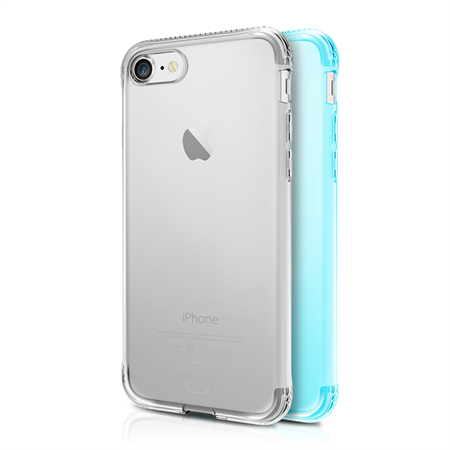 ITSKINS Gel Cover 2-pak til iPhone 6/6S/7 - Transparent/Green