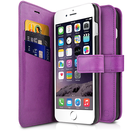 ITSKINS Book Cover til iPhone 6/6S/7 - Purple