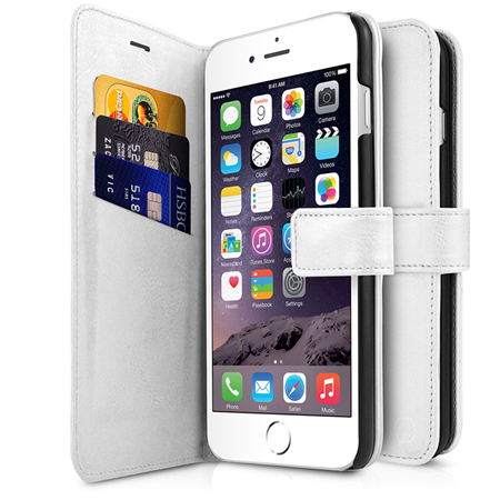 ITSKINS Book Cover til iPhone 6/6S/7 - White