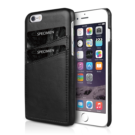 ITSKINS Eco-leather Card Cover iPhone 6/6S/7 - Black