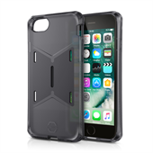 ITSKINS Gel Cover med magnet og holder til iPhone 6/6S/7/8. Transprent Black