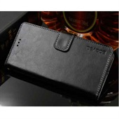 Crazy Horse PU Leather Wallet til Huawei P20 Pro - Black