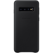 Samsung Galaxy S10 Leather Cover - Black