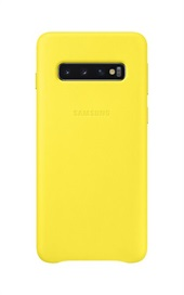 Samsung Galaxy S10 Leather Cover - Yellow