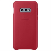 Samsung Galaxy S10e Leather Cover - Red